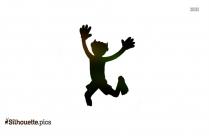 Boy Running Silhouette Image