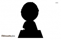 Boy Standing Silhouette Image Vector