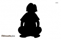 Sitting Girl Silhouette Illustration