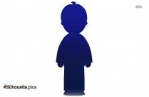 Little Boy Under Big Umbrella Silhouette