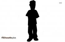 Boy Holding Valentine Heart Silhouette