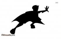 Little Boy Silhouette Free Vector Art