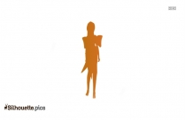 Brave Anime Girl Silhouette