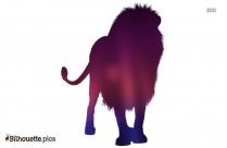 Brave Lion Silhouette