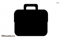 Briefcase Silhouette Black And White