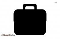 Briefcase Silhouette Black And White