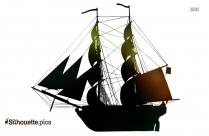 Viking Longship Silhouette Image