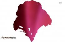 Lettuce Silhouette Vector Clipart