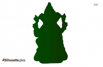 ganesha head vector silhouette image