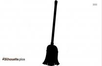 Broom Clip Art Silhouette Image