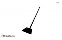 Sweeper Man Silhouette Free Vector Art