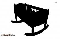 Brown Crib Silhouette Vector