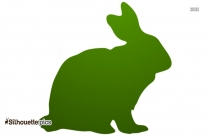 Easter Bunny Silhouette Vector Image
