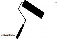 Paintbrush Symbol Silhouette