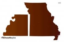 Buchanan County Missouri Silhouette