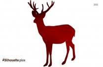 Deer Running Fast Vector Silhouette