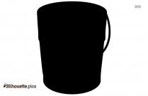 Bucket Silhouette Free Vector Illustration