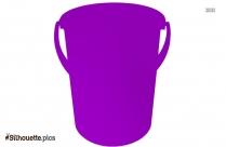 Plastic Green Bucket Silhouette