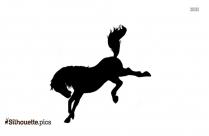 Bucking Horse Image Silhouette