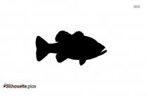Buffalo Fish Silhouette Clip Art Vector Illustration