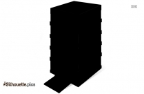 Apartment Buildings Illustration Silhouette