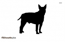 Dog Side Face Silhouette
