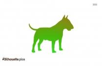 Bluetick Coonhound Dog Silhouette
