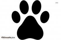 Bulldog Paw Print Silhouette