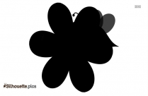 Black And White Spring Bouquet Silhouette