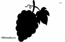 Cartoon Grapes Silhouette Image And Vector