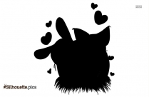 Black Love Heart Silhouette
