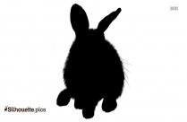 Black Bunny Silhouette Image