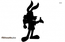 Easter Cute Bunny Drawing Silhouette