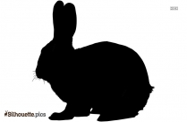 Cartoon Bunny Silhouette Drawing