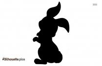 Cute Rabbit Clipart, Silhouette