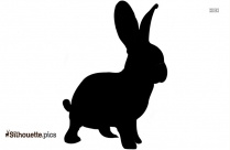 Bunny And Kitty Love Silhouette