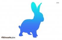 Cartoon Rabbit Silhouette Image