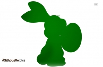 Easter Bunny Silhouette, Free Vector Art