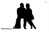 Woman Sitting Silhouette Svg