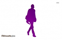Businessman Walking Silhouette Vector