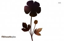 Buttercup Flower Silhouette Clipart Pic