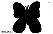 Butterfly Cartoon Silhouette