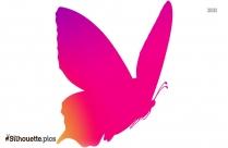 Butterfly Rain Silhouette Clipart