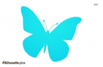 Flying Butterfly Design Silhouette Icon