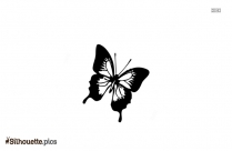 Cartoon Butterfly Silhouette Background