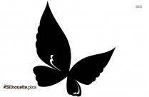 Cute Girl Butterfly Silhouette Art