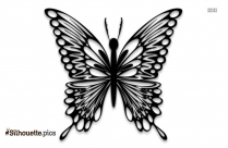 Butterfly Throne Silhouette Vector And Graphics