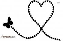 Butterfly Heart Silhouette Drawing