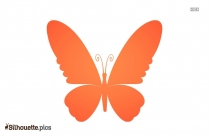 Soft Butterfly Silhouette