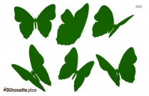 Flying Butterfly Art Silhouette Vector And Graphics